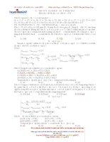 Giải chi tiết đề thi đại học môn hóa khối A các năm gần đây