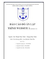 Tài liệu BÁO CÁO ĐỒ ÁN LẬP TRÌNH WEBSITE 1(version 1.1) doc