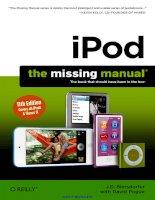 Tài liệu iPod: The Missing Manual, 11th Edition pdf