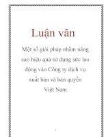 Tài liệu Luận văn: Một số giải pháp nhằm nâng cao hiệu quả sử dụng sức lao động vào Công ty dịch vụ xuất bản và bản quyền Việt Nam docx