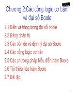 Tài liệu Chương 2:Các cổng logic cơ bản và đại số Boole pot
