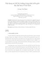 Vận dụng cơ chế thị trường trong phát triển giáo dục đại học ở việt nam