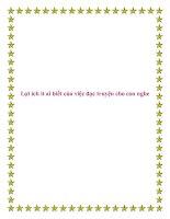 Tài liệu Lợi ích ít ai biết của việc đọc truyện cho con nghe. pot