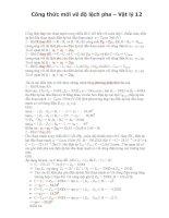 Tài liệu Công thức mới về độ lệch pha – Vật lý 12 docx