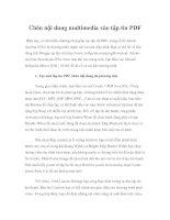 Tài liệu Chèn nội dung multimedia vào tập tin PDF pdf