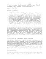 Tài liệu DEMOCRATIZING THE INTERNATIONAL MONETARY FUND AND THE WORLD BANK: GOVERNANCE AND ACCOUNTABILITY pptx