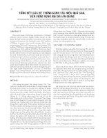 Tài liệu TỔNG KẾT CÁC HỆ THỐNG CANH TÁC HIỆU QUẢ CAO, BỀN VỮNG VÙNG NÚI DÀI AN GIANG ppt