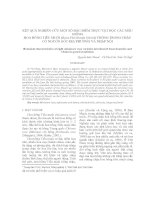 Tài liệu KẾT QUẢ NGHIÊN CỨU MỘT SỐ ĐẶC ĐIỂM THỰC VẬT HỌC CÁC MẪU GIỐNG HOA HỒNG TIỂU MUỘI (Rosa Floribunda bybrid) TRỒNG TRONG CHẬU CÓ NGUỒN GỐC ĐỊA PHƯƠNG VÀ NHẬP NỘI doc