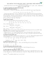 Hệ thống công thức và phương pháp giải bài tập sinh học 12