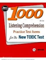 1000 Listening Comprehension Practice Test Items For The New Toeic Test  (kèm audio phần 1 )