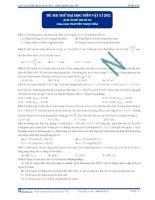 Đáp án đề thi thử đại học lần 2 - 2013 môn vật lý Thầy Hải