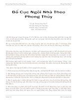 Tài liệu Bố Cục Ngôi Nhà Theo Phong Thủy pptx