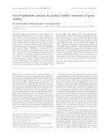 Tài liệu Báo cáo khoa học: Use of hydrostatic pressure to produce 'native' monomers of yeast enolase ppt
