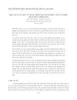 Tài liệu HIỆU QUẢ VỐN ĐẦU TƯ PHÁT TRIỂN DOANH NGHIỆP NÔNG NGHIỆP TỈNH THỪA THIÊN HUẾ ppt