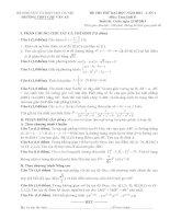 Đề thi thử đh môn toán D lần 1 năm 2014 THPT Quốc Gia Chu Văn An