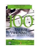 Tài liệu 100 bài hát hay nhất Việt Nam thể kỷ 20 potx