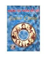 Tài liệu Những tác phẩm bất hủ dành cho Guitar Classic (tập 3) pdf