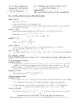 Tài liệu Đề Thi Thử Đại Học Khối A, A1, B, D Toán 2013 - Phần 19 - Đề 15 doc