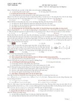 Tài liệu Đề Thi Đại Học Khối A, A1 Vật Lý 2013 - Phần 7 - Đề 3 pdf