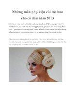 Tài liệu Những mẫu phụ kiện cài tóc hoa cho cô dâu năm 2013 potx