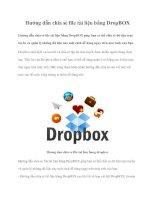 Tài liệu Hướng dẫn chia sẻ file tài liệu bằng DropBOX ppt