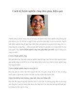 Tài liệu Cách trị bệnh nghiến răng đơn giản, hiệu quả pot