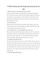 Tài liệu 10 điều không nên nói trong cuộc phỏng vấn xin việc pdf