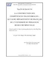 la construction des compétences transversales  le cas du département de français de l'université de pédagogie de ho chi minh ville