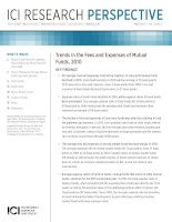 Tài liệu Trends in the Fees and expenses of Mutual Funds, 2010 pptx