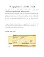 Tài liệu 10 mẹo giúp bạn làm chủ Gmail pptx