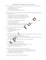 118 câu trắc nghiệm Tài chính doanh nghiệp