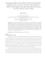 Sử dụng sơ đồ tư duy để rèn luyện kỹ năng thực hành bộ môn lịch sử cho học sinh hệ bổ túc THPT (vận dụng trong dạy học khóa trình lịch sử việt nam từ 1919 1930)