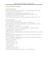 Bài tập nguyên phân - giảm phân