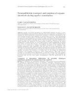 Tài liệu Nonequilibrium transport and sorption of organic chemicals during aquifer remediation doc