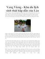 Tài liệu Vang Vieng - Khu du lịch sinh thái hấp dẫn của Lào pptx