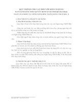 QUY TRÌNH CHO VAY ĐỐI VỚI KHÁCH HÀNG BAN HÀNH KÈM THEO QUYẾT ĐỊNH SỐ 963/2009/QĐ-BacABank  NGÀY 23/12/2009 CỦA TỔNG GIÁM ĐỐC NGÂN HÀNG TMCP BẮC Á