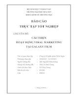 báo cáo thực tập nhận thức cải thiện hoạt động viral marketing tại galaxy film