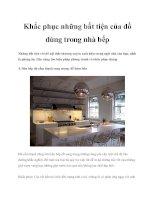 Tài liệu Khắc phục những bất tiện của đồ dùng trong nhà bếp docx