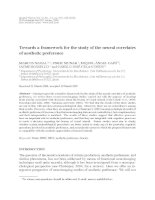 Tài liệu Towards a framework for the study of the neural correlates of aesthetic preference pdf