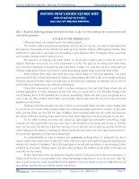 Phương pháp làm bài tập đọc hiểu môn Tiếng Anh