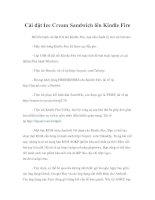 Tài liệu Cài đặt Ice Cream Sandwich lên Kindle Fire pptx