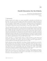 Tài liệu Health Education for the Elderly - Ayla Kececi and Serap Bulduk pptx