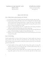 Tài liệu Đề thi có đáp án môn Luật Đất đai năm 2013 pdf