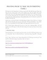 PHƯƠNG PHÁP tự học IELTS WRITING TASK 1