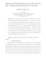 Pháp luật về hợp đồng dân sự theo mẫu trên thế giới – những kinh nghiệm đối với việt nam