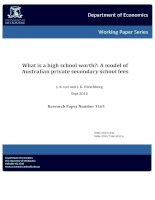Tài liệu What is a high school worth?: A model of Australian private secondary school fees docx
