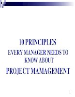 Tài liệu 10 PRINCIPLES EVERY MANAGER NEEDS TO KNOW ABOUT PROJECT MAMAGEMENT doc