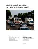 Tài liệu Identifying Unsafe Driver Actions that Lead to Fatal Car-Truck Crashes pdf