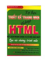 Tài liệu Tự Học Thiết Kế Trang Web Bằng HTML Một Cách Nhanh Chóng Và Có Hiệu Quả Nhất Qua Các Chương Trình Mẫu pptx