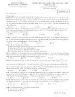 Tài liệu Đề Thi Đại Học Khối A, A1 Vật Lý 2013 - Phần 7 - Đề 2 pdf